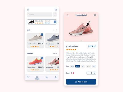 Online shop - shoes shoes ui online shop onlineshop order app design uidesign adobe xd uiux