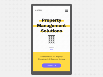 Hopem (Home Page Redesign - Property Management Solutions)