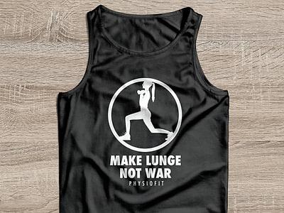 Make Lunge Not War - Fitness T-shirt tank top mockup fitness club tshirt design tshirt mockup fitness illustration vector
