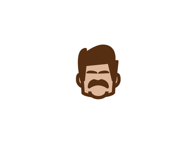 Ron Swanson man face icon portrait parks and recreation nick offerman ron swanson