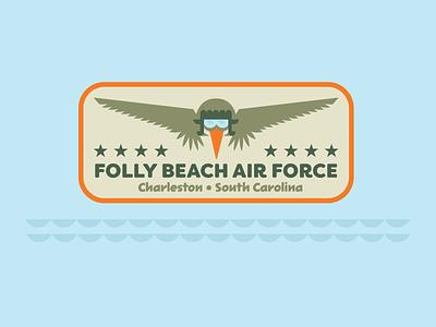 Folly Beach Air Force Badge animal military south carolina charleston pelican air force badge sticker