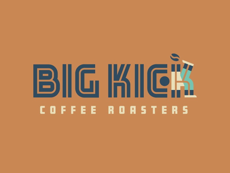 Big Kick identity brand logo south carolina charleston jersey player bean roaster coffee roaster coffee soccer