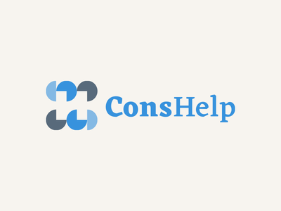 Consulting Help concept analysis charts help consulting branding monogram corporate logo