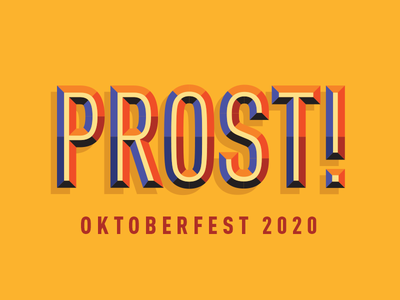 Prost! geometric 3d fall germany beer type typography octoberfest