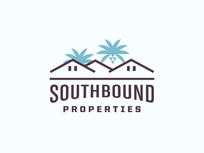 Southbound - Rejected branding logo properties palm trees