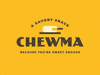Chewma logo keto branding cutting board cheese snack