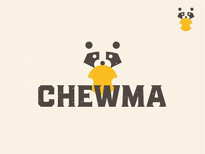 Chewma Branding custom type typography raccoon snack keto cheese branding logo