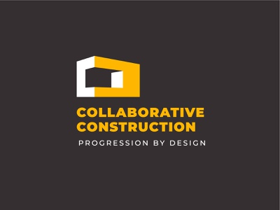 Unused Construction Logo Concept construction company construction logo branding logo block construction