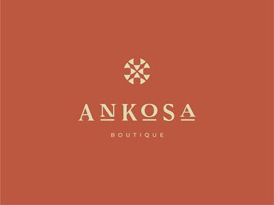 AnKoSa logo concept 2 fashion brand boutique diamond fashion branding logo
