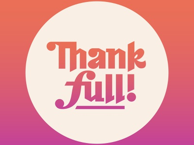 Thankfull blackletter lettering thanksgiving typography pun