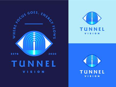 Tunnel Vision eyes see arch retro vintage branding logo tunnel light hallway eye vision