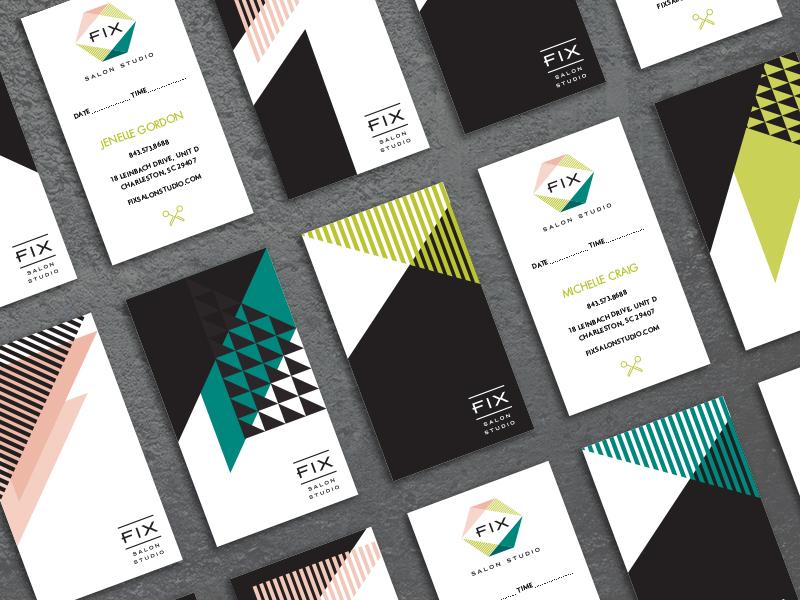 Fix Salon Business Cards by Sophie Nemethy - Dribbble