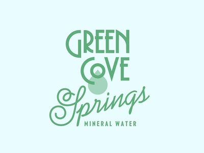 Spring Water typography branding logo label
