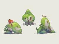 mossy pebble #1