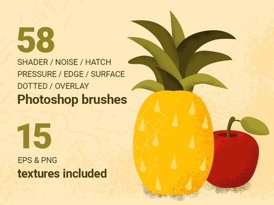 58 Shader Photoshop Brushes