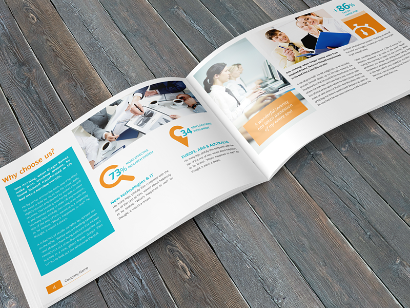 Business Corporate Multipurpose A Brochure By Envro Dribbble - Horizontal brochure template