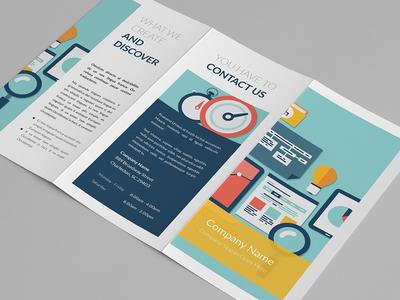 Sneak peek - trifold #1 sneak peek trifold print template flat minimal clean design modern indesign editorial branding