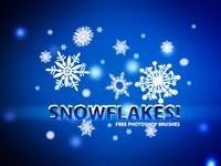 Free Snowflakes Photoshop Brushes