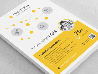 Clean Minimal Multipurpose Flyer clean minimal vector icon icons vectors modern flyer ad magazine advertisement poster print template indesign business