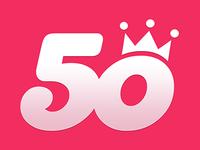 Music App '50songs' Logo