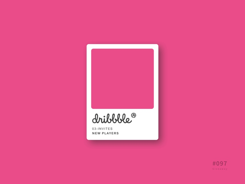 UI 097 dribbble invitation card invitation give away giveaway 97 097 daily challenge button daily 100 daily 100 challenge design uidesign ui dailyui