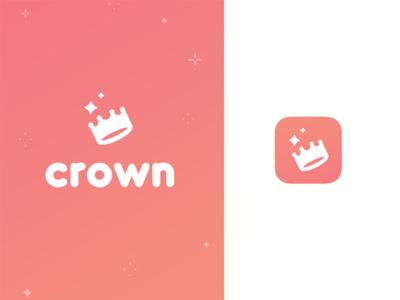 Crown - dating app branding crown logo icon branding brand dating app