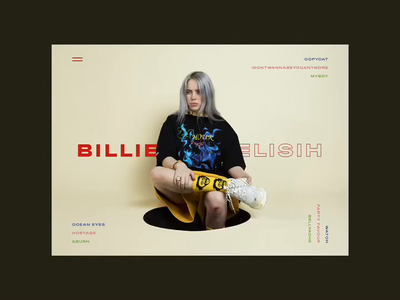 Day 1 - Landing page - Billie Eilish