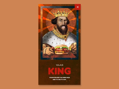Day 16 - Popup / overlay - Burger King