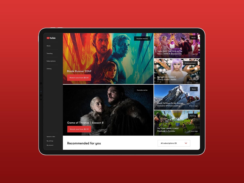 Day 25 - Tv app - Youtube ui dailyuichallenge dailyui 100days