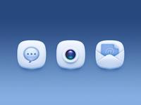 3 White Icons