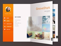 Music magazine concept for grooveshark page up