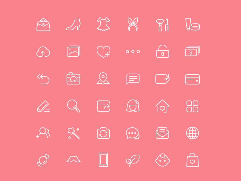 Chic Female Icons 36 with PSD