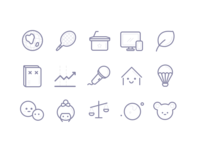 Cute Line Icons