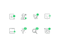 Icons with Sketch file download