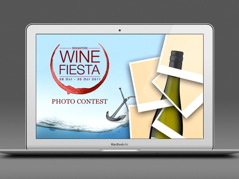 Wine Fiesta Photo Contest wine fiesta photo contest facebook app ui ux web interface straits company