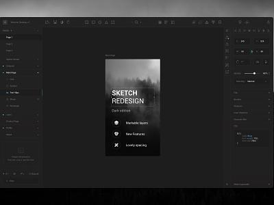 Sketch Dark Ui sketch app dark ui flat ux platform station work design download free