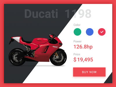 Daily UI Day 12 E-Commerce Shop ducati motorcycle ui e-commerce shop daily ui