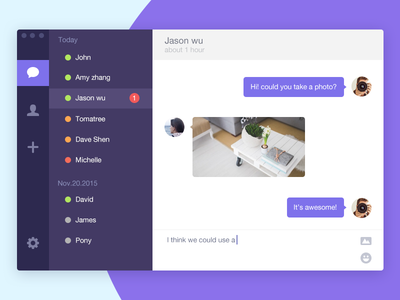 Daily UI Day 13 Direct Messaging ui direct messaging daily ui