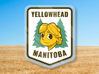 Yellowhead Highway Manitoba pin cartoon sketchbookpro affinity designer character illustration