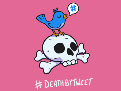 #DeathByTweet Colour procreate sticker design illustration character