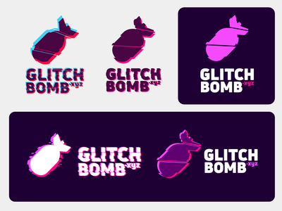 Glitch Bomb logo vector branding design logo affinity designer