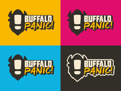 Buffalo Panic! logo with graphic typography vector logo branding affinity designer design
