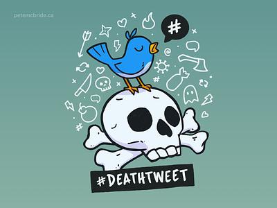 DeathTweet FIN design cartoon sketchbookpro procreate character illustration