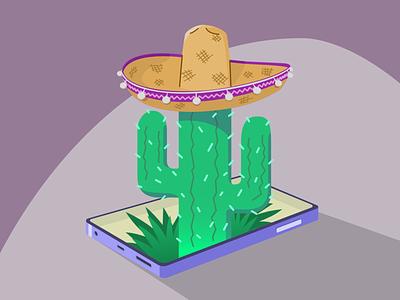 Cactus Sombrero design affinity designer illustration
