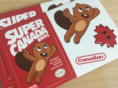 Super Canada Bros Sticker Sheet