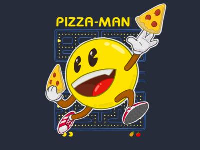 Pizza Man Shirt Design