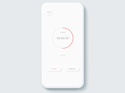 Flat to Soft UI Countdown Timer ux ui dailyui softui mobile countdowntimer countdown timer app uiux animation modern simple minimal design