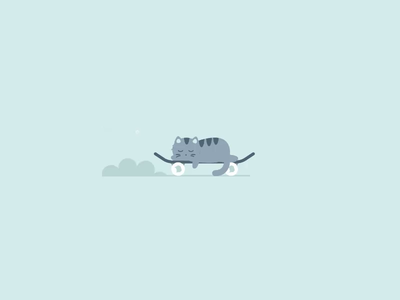 Skating Cat svg animation greensock gsap svg codepen coding animal cat animation minimal simple illustration vector design
