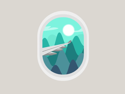 Traveling - SVG animation - svg animation coding night sunset morning flying window airplane travel nature art mountains blue nature modern animation minimal simple illustration vector design