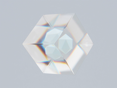 Dispersion 3d animation shape glass 3d artwork 3d art 3d modern animation minimal design
